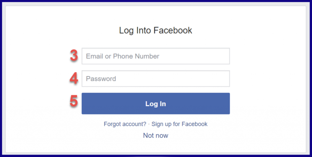 Facebook login window to open account on ExpertOption