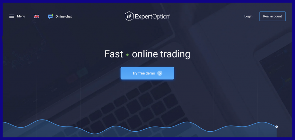 ExpertOption Open a Demo Account