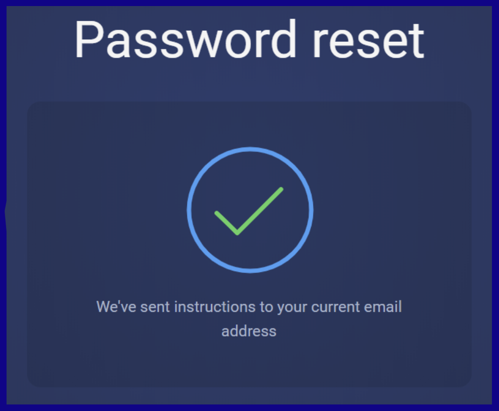 password recovery instructions for ExpertOption