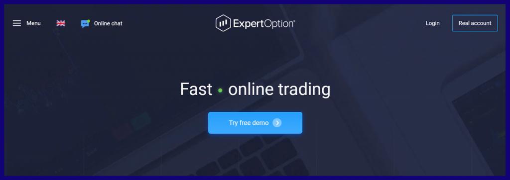 ExpertOption or Binomo demo account