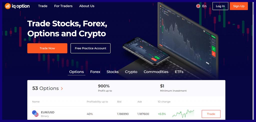 IqOption is a trading platform