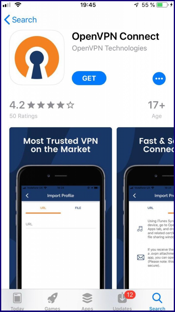 Use VPN to open / login account on ExpertOption app